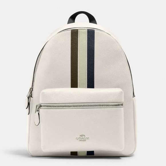 New💃Coach Charlie Backpack With Varsity Stripe